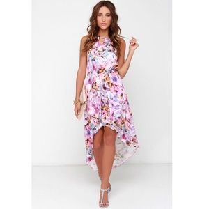 MINK PINK My Sweet Garden Floral High Low Dress